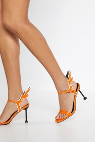 Nasty Gal Flame Strappy Heeled Sandals