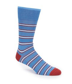 Johnston & Murphy Men's Birdseye Stripe Sock