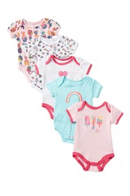 Betsey Johnson Printed Bodysuit Pack - Pack of 5 (