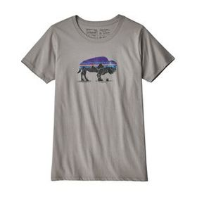 W's Fitz Roy Bison Organic Crew T-Shirt, Feather G