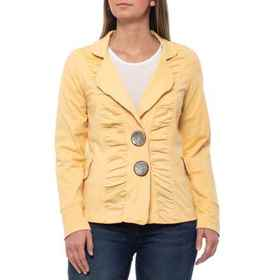 Neon Buddha Butter Morgan Ruched Jacket (For Women