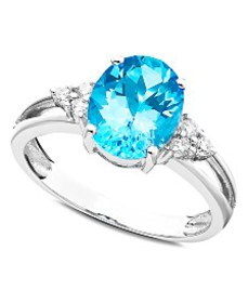14k White Gold Ring, Blue Topaz (2-3/4 ct. t.w.) a