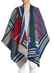 Burberry Patchwork Cashmere Blend Poncho MULTI
