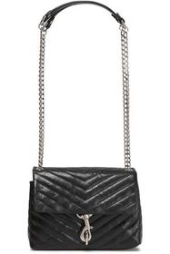 REBECCA MINKOFF Chain-trimmed quilted leather shou