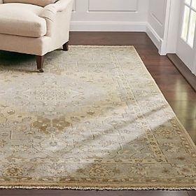 Crate Barrel Nola Neutral Wool Rug