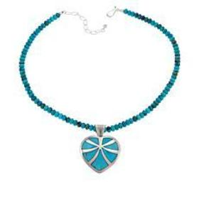Jay King Reversible Turquoise Heart Pendant with N