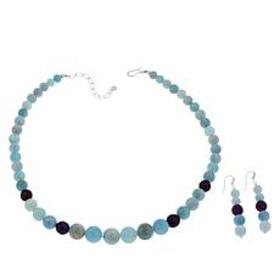 Jay King Aquamarine and Amethyst Bead Necklace and