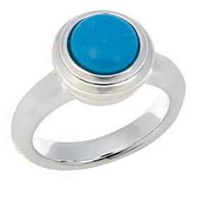 Sevilla Silver™ Round Turquoise Ring