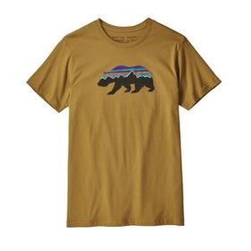 M's Fitz Roy Bear Organic T-Shirt, Kastanos Brown