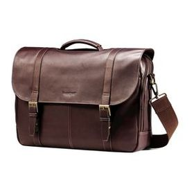 Samsonite Samsonite Leather Flapover Case Double G