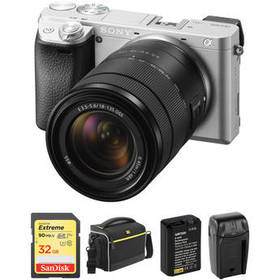 Sony Alpha a6300 with 18-135mm Lens and Free Acces