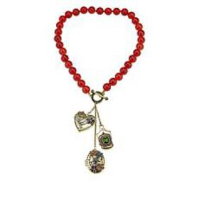 "Heidi Daus ""Lovely Lavaliere"" Charm Drop Necklace"