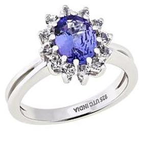 Paul Deasy Gem Sterling Silver Tanzanite and White