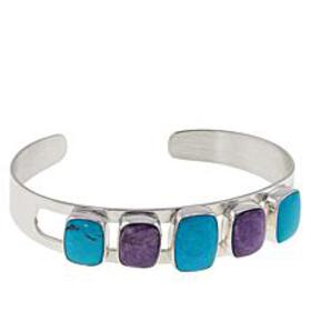 Jay King Sterling Silver Charoite and Turquoise Cu