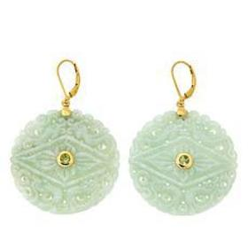 Amara Jewelry Collection Jade and Peridot Carved D