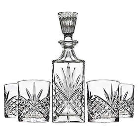 Shannon 5-Piece Crystal Aberdeen Decanter and Doub