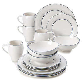 Mikasa® Swirl Banded 16-Piece Dinnerware Set in Bl