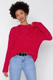 Nasty Gal Give Knit Time Cable Sweater