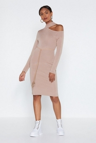 Nasty Gal Take Sides Cut-Out Knit Dress