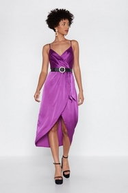 Nasty Gal From Ruche With Love Satin Dress