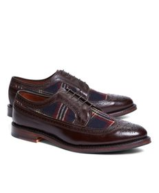 Brooks Brothers Leather and Wool Brogues with Sign