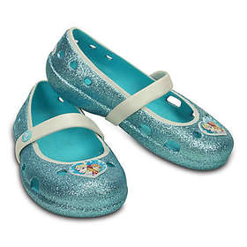"Crocs™ Kids' Keeley ""Frozen"" Flat in Pool Blue"