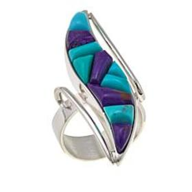 Jay King Purple and Blue Turquoise Inlay Sterling