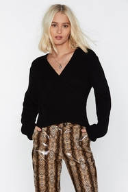 Nasty Gal It's Knit the Same Without You Wrapover