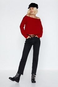 Nasty Gal Had Knit Up to Here Off-the-Shoulder Swe