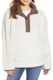 Dylan Frosty Tipped Park Slope Faux Shearling Pull