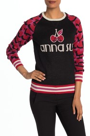 Anna Sui Cherries & Hearts Knit Pullover