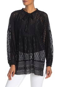 Anna Sui Midnight Medley Lace Blouse