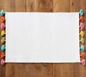 Pottery Barn Raney Multicolor Tassel Placemat