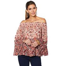 Curations Printed Drama Top