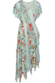ALICE + OLIVIA Kadence corded lace and floral-prin