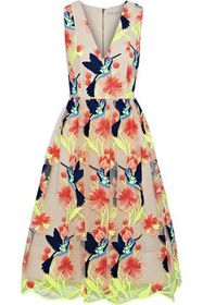 ALICE + OLIVIA Becca embroidered tulle dress