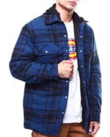 Dickies relaxed icon plaid quilted shirt jacket