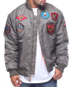 Buyers Picks ma-1 patched flight jacket (b&t)