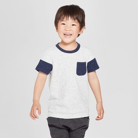Toddler Boys' Pocket Short Sleeve T-Shirt - Cat &