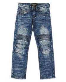 Arcade Styles ribbed moto stretch jeans (4-7)