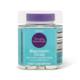 Magnesium Citrate Dietary Supplement Tablets - 120
