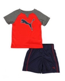 Puma poly performance tee & shorts set (2t-4t)