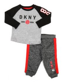 DKNY Jeans nyc 2 piece fleece set (infant)
