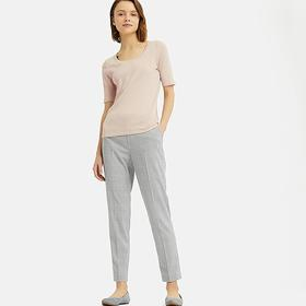 WOMEN EZY GLEN CHECKED ANKLE-LENGTH PANTS