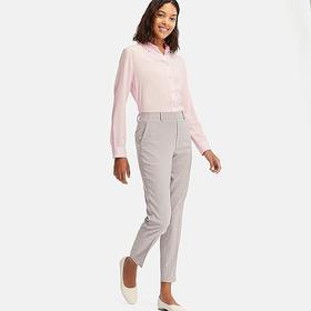 WOMEN EZY CHECKED ANKLE-LENGTH PANTS