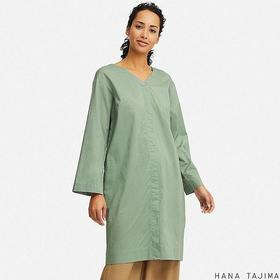 WOMEN V-NECK LONG-SLEEVE TUNIC (HANA TAJIMA)