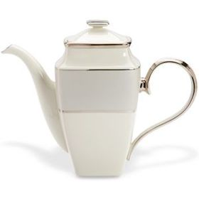 Ivory Frost Square Coffeepot by Lenox