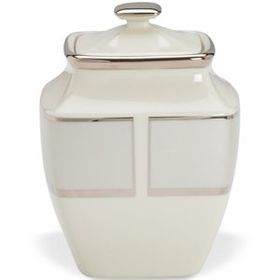 Ivory Frost Square Sugar Bowl by Lenox