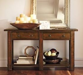 Pottery Barn Benchwright Console Table