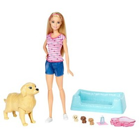 Barbie® Newborn Pups and Doll Playset